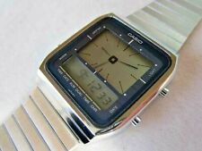CASIO AE-70 1980's Rare 2WAY Digital Analog Quartz Vintage  Watch Metal band