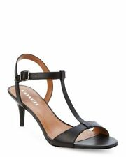 Womens COACH Melodie Black Calf Leather Sandals size 6 NWOB