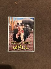 Donald Trump StickerDecal 4x3 Full Color Uncle Sam Build That Wall