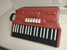 1960's Vintage Tiger Combo 'Cordion Flow Tone Rock Accordion Fire Red
