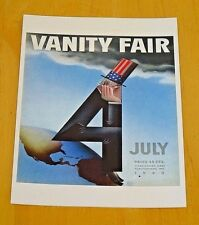 VANITY FAIR POSTCARD ~ THE FORTH OF JULY'S UNCLE SAM ~ PAOLO GARRETTO, JULY 1933