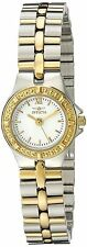 New Ladies Invicta 0136 Wildflower Collection Two Tone Stainless Steel Watch