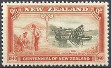 New Zealand 1940 CENTENNIAL9d GOLD MINING (1) Fresh Unhinged Mint SG 624