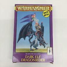 EMPTY BOX WARHAMMER MIDDLEHAMMER DARK ELF ELVES BEASTLORD RAKARTH DRAGON 1997