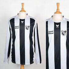Retro Camiseta De Fútbol Soccer Camiseta Erima alemán SV Horst emscher Negro Raya XL