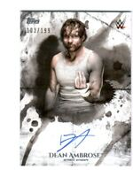 WWE Dean Ambrose 2018 Topps Undisputed On Card Autograph SN 103 of 199