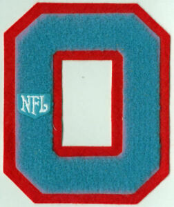 """Vintage Houston Oilers Varsity Letter O Chenille Patch LARGE 5.5"""" x 4.5"""" sew on"""