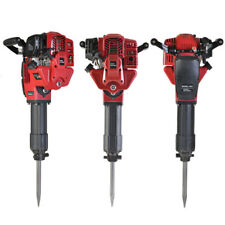52Cc 1700W Demolition Jack Hammer Gasoline Concrete Breaker Punch 2 Chisel Bits