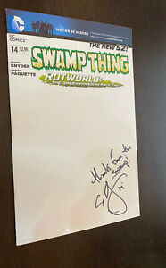 SWAMP THING #14 (DC Comics 2012) -- BLANK VARIANT -- SIGNED Scott Snyder