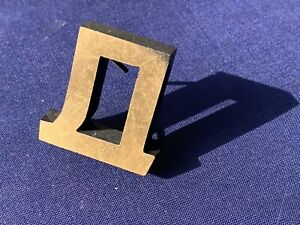Letter Cyrillic D Д Vintage 1980 Metal Letters Made Europe Initial Hand Made 3D