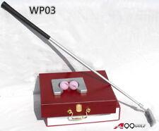 WP03 Golf Putting Set Aluminum Base with Wood Case 2balls