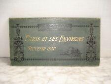 Dépliant Paris Exposition 1900 Panorama de 42 Vues  Format  CPA