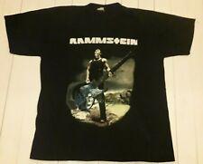 RAMMSTEIN Vintage 2001 European Tour T Shirt XL Metal Industrial NIN LP Germany