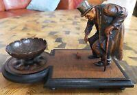Allégorie de la vieillesse - bois sculpté 24x14x13 cm