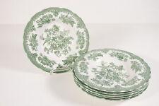 Enoch Wedgwood Tunstall Ltd / Suppenteller / Teller / Burslem Green / 6 Stück #V