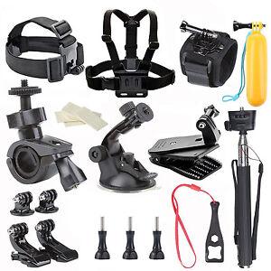 Action Camera Basic Accessories Kits for Gopro Hero 9 SJ4000 SJ5000 SJ6000 SJCAM