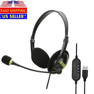 CNAweb USB Headphones with Microphone