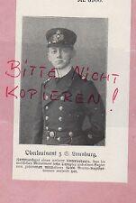 1918, Bildnis Portrait Fotografie Oberleutnant z. S. Launburg. U-Boot-Kommandant