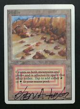 Plateau UNLIMITED SIGNED - Rare Card - MTG Magic The Gathering #2