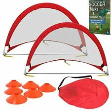Soccer Practice Equipment for Kids 2 Pop Up Soccer Goals Training Cones Durable