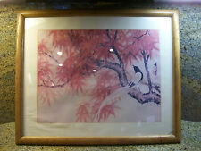 Jong Shiang art on a 21 2/3  x  17 1/2   wooden  picture frame