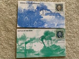 U.S. #2433 - 4 individual stamps each on a different KMC Ventures Civil War FDC