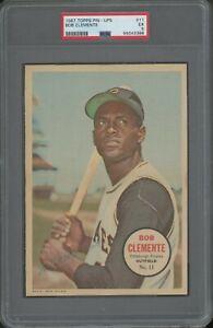 1967 Topps Pin-Ups #11 Bob Roberto Clemente Pittsburgh Pirates HOF PSA 5 EX
