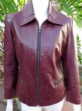 Gorgeous Vintage MONTAGUT Paris Casual Jacket Burgundy Leather Size 46