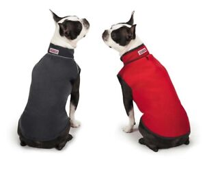 Dog Sweater Reversible Microfiber Warm Fleece Vests Black Red - Choose Size