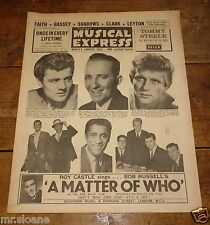 NME AUG 11 1961 KANE BING LEYTON SHADOWS BASSEY FAITH GENE VINCENT SAM COOKE