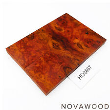 ROTES AMBOINA MASER MESSER SCHALENPAAR HOLZ SCALES AMBOYNA BURL SCALES HO3667