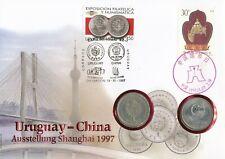 Numisbrief Numiscover Uruguay - China Ausstellung Shanghai 1997 Philswiss