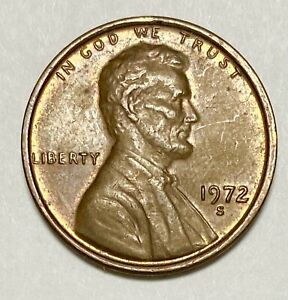 1972 S Lincoln Memorial 1 Cent Repunched Mintmark Error Circulated Coin (4230)