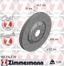 ZIMMERMANN Bremsscheibe FORMULA Z COAT Z Vorne links für Audi RS4 Avant quattro