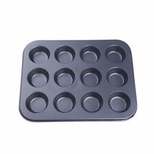 12 in 1 cake mold muffin /cupcake cup shaped baking mold versatile dishwash I7D2