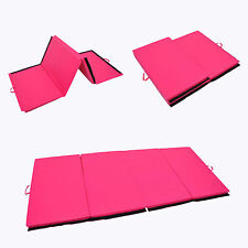 "4'x6'x2"" Folding Gym Yoga Mat Exercise Aerobics Gymnastics Stretching Yoga Pink"
