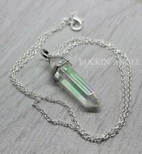 925 Silver Necklace & Angel Aura Quartz Pendant Reiki Healing Crystal Chakra