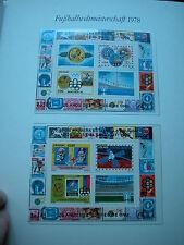 Fußball Weltmeisterschaft 1978  aus Borek ABO: URUGUAY 2 Block KLB mit je 4 Wert