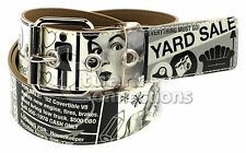 NEW Valerie Stevens Women's Black & White Classified Jelly Belt Large PL9939005