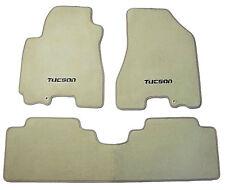 New OEM Factory Genuine Floor Mats Carpeted Hyundai Tucson  Logo Beige Tan
