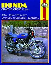 HAYNES WORKSHOP SERVICE REPAIR MANUAL BOOK HONDA CB400 CB550 FOURS 1973-1977