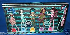 Monster High Skull Shores 5 Pack Draculaura Frankie Clawdeen Ghoulia Cleo New