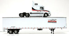 MUSTANG EXPRESS VOLVO 670 WITH HIGH-ROOF SLEEPER 53' TRAILER First Gear 1st 1/64