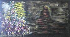 RAYMAC (1918-2008) Grand Panneau expressionnisme de 1964 Art Brut (106cm)