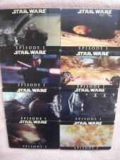 Star Wars Episode 1 Lenticular Mini Movie 4D Cards Set - 3D TPM Lucas Film 1999