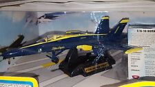 1/72 MOTORMAX F-18 FIGHTER JET BLUE ANGLES DIECAST WITH PLASTIC BLUE WITH STAND