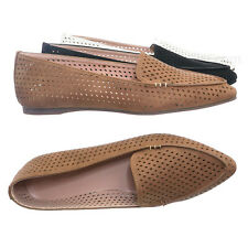 Arrow11 Pointed Toe Perforated Loafer - Women Flat Slipper w Hole Cutout