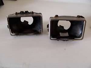 1976 ELDORADO LEFT HEADLIGHT BUCKET 's & TRIM RING BEZELS OEM USED CADILLAC PART