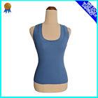 SIZE 8 Ribbed Tank for Women PORTMAS Dual Shoulder Straps Slim Fit Color Blue