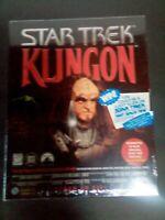 Vintage Star Trek Klingon Interactive Game 3 CD-ROM SET Learn or Die 1996 ~ NEW